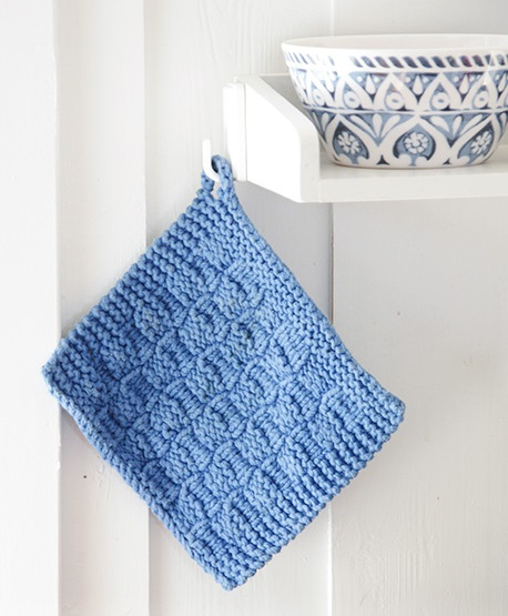 Free Knitting Pattern for a Textured Potholder