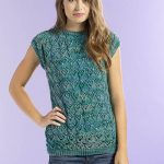 Free Knitting Pattern for a Wandering Lace Tee
