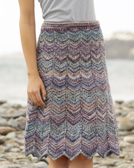 Free Knitting Pattern for a Wave Skirt