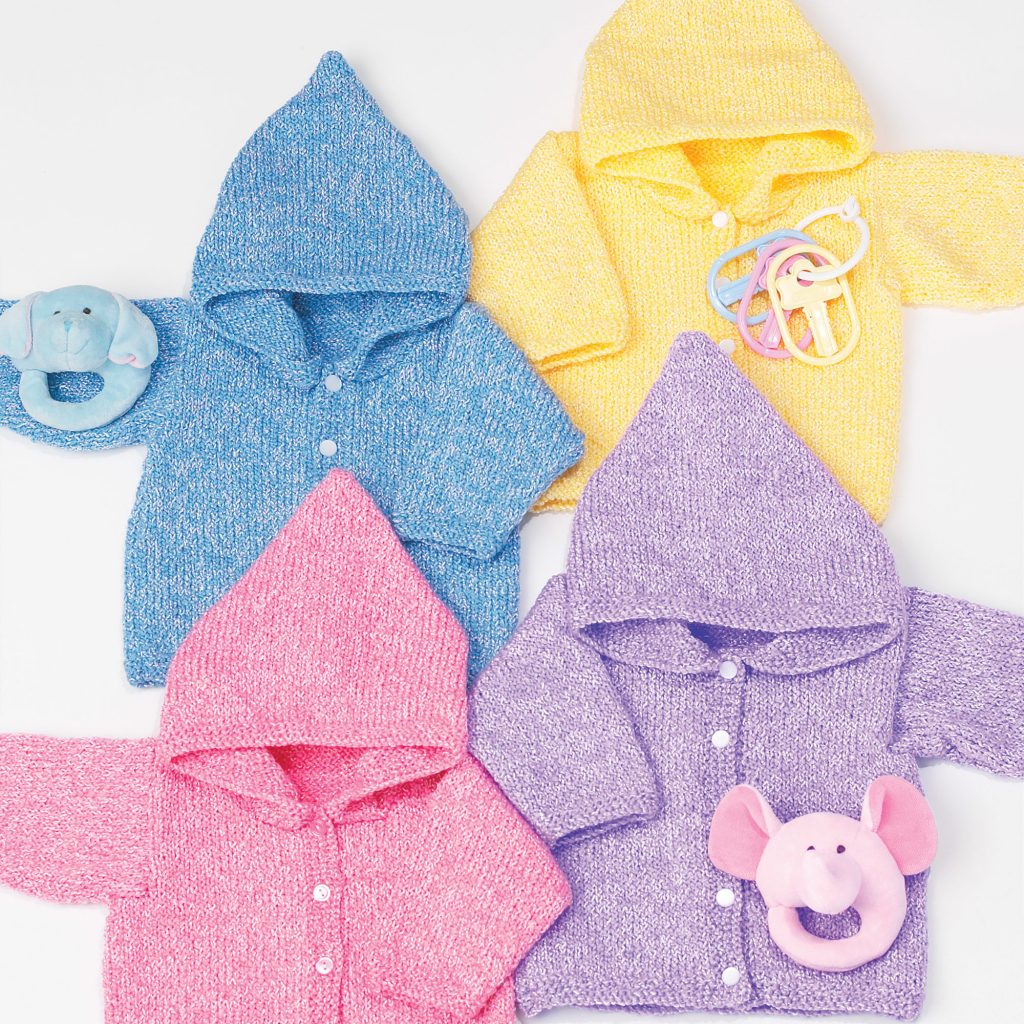 Free Knitting Pattern for an Easy Baby Hoodie