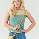 Free Knitting Pattern for an Easy Lace Topped T-Shirt