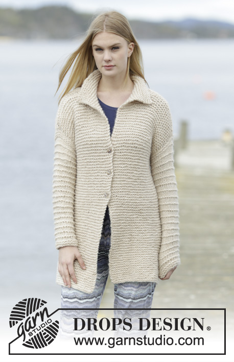 Free Knitting Pattern for an Easy Lazy Days Jacket