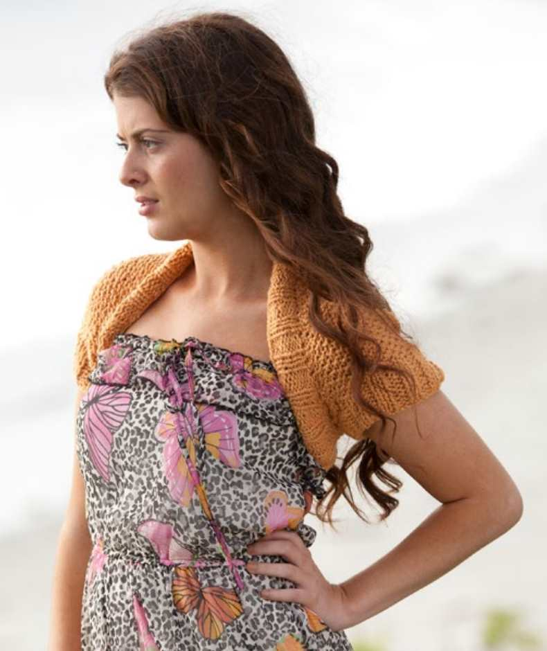 Free Knitting Pattern for an Easy Shrug Riptide