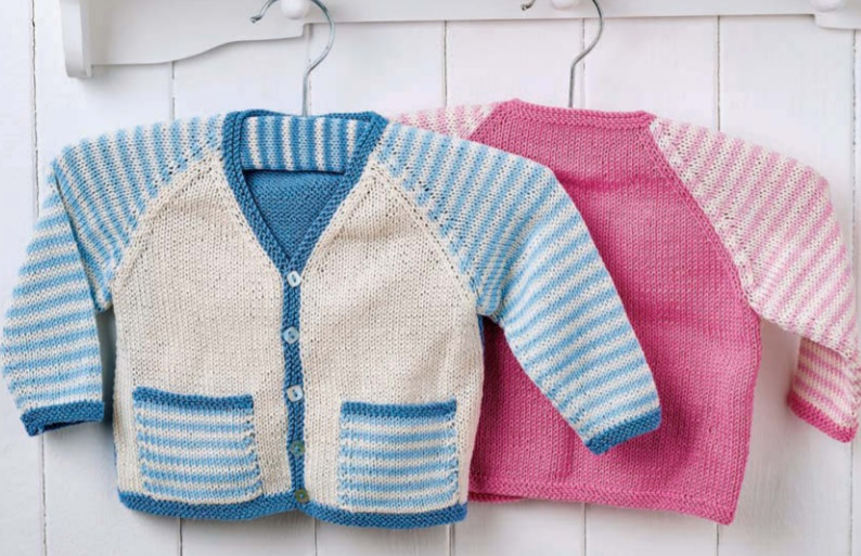 Free Free Striped Baby Cardigan Knitting Pattern Patterns
