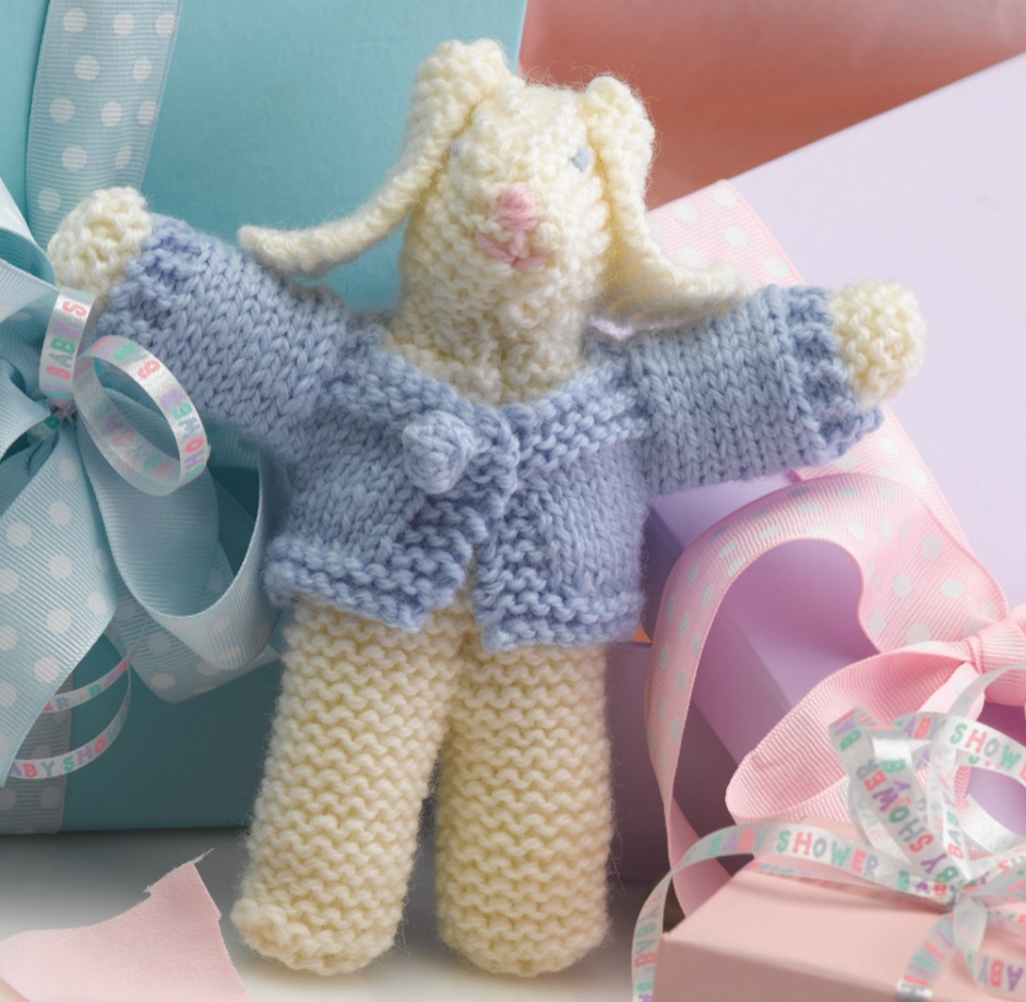 Free Knitting Pattern for an Easy Toy Rabbit