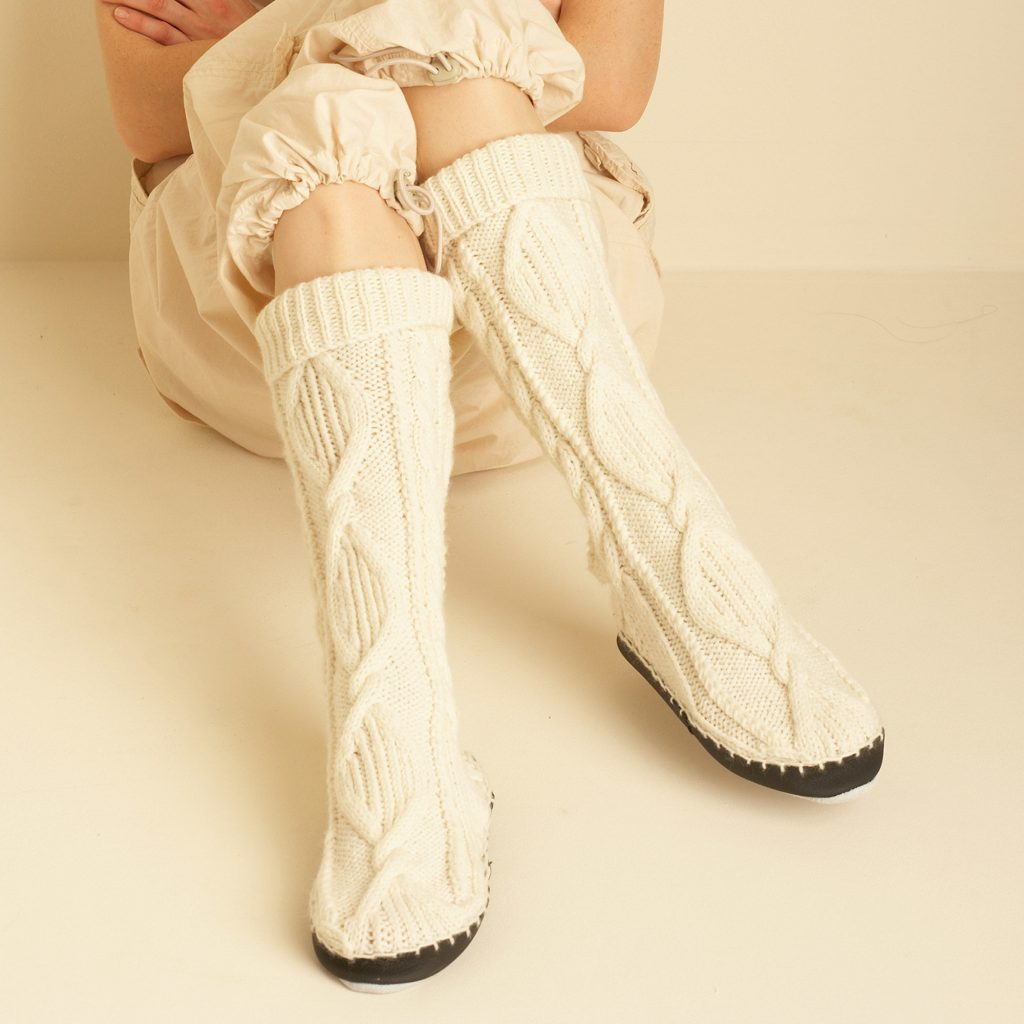 Free Knitting Patterns for Cable Stitch Slippers