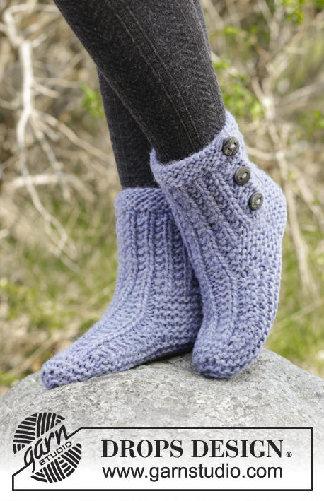 Free Knitting Patterns for Cozy Buds Slippers