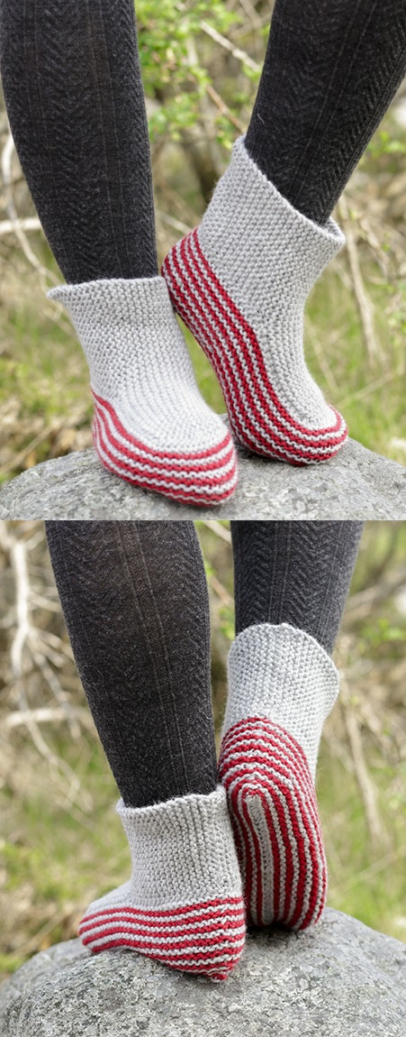 Free Knitting Patterns for Garter Stitch Slippers
