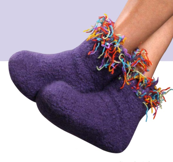 Free Knitting Patterns for Knit Felt Slipper Boots