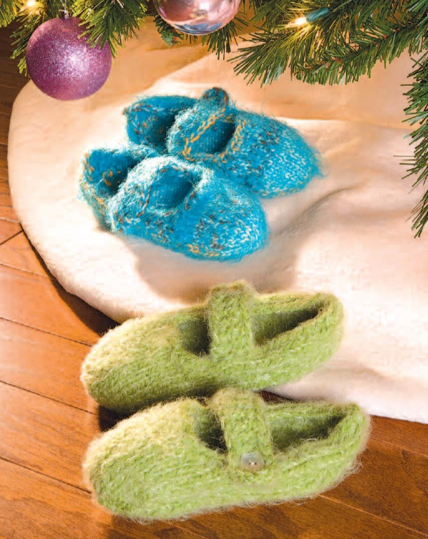Free Knitting Patterns for Mary Jane Slippers