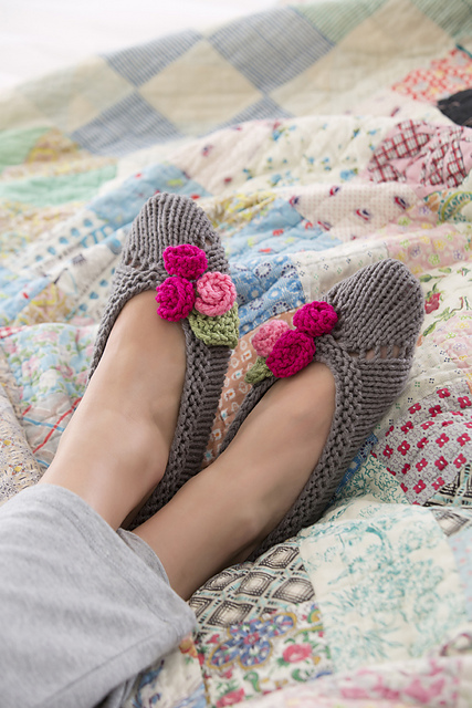 Free Knitting Patterns for Slippers For Her