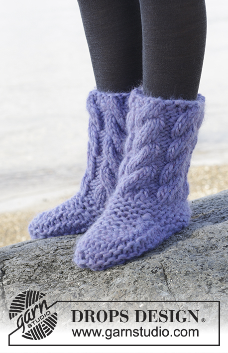 Free Knitting Patterns for Slippers with Cables