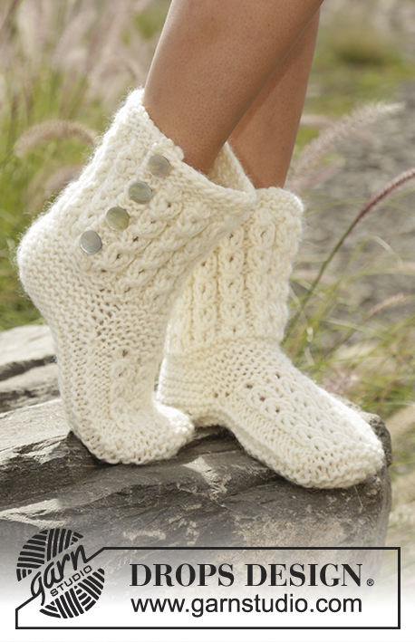 Free Knitting Patterns for Walk in the Clouds Slippers