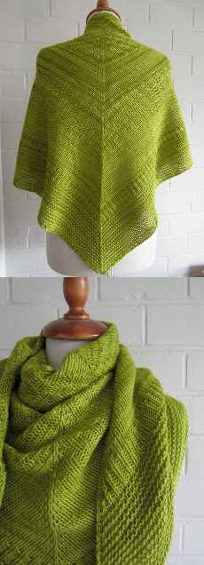 Free knitting pattern for a triangle shawl easy