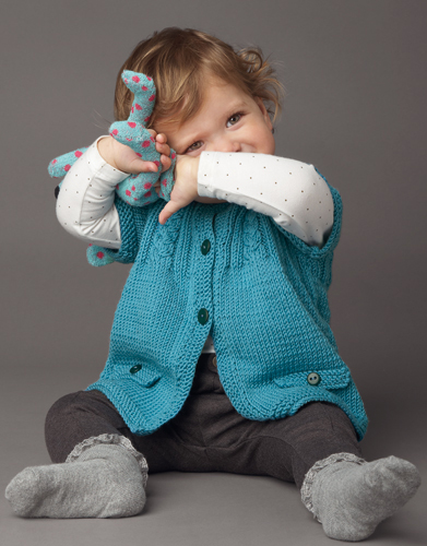 Free knitting pattern for baby cardigans with short sleeve and cable details