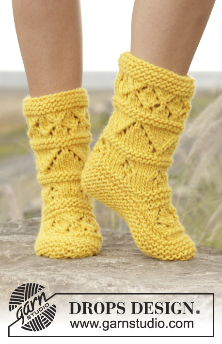 Free knitting pattern for lace slipper boots
