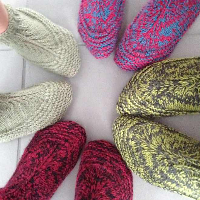 Free knitting pattern for slippers