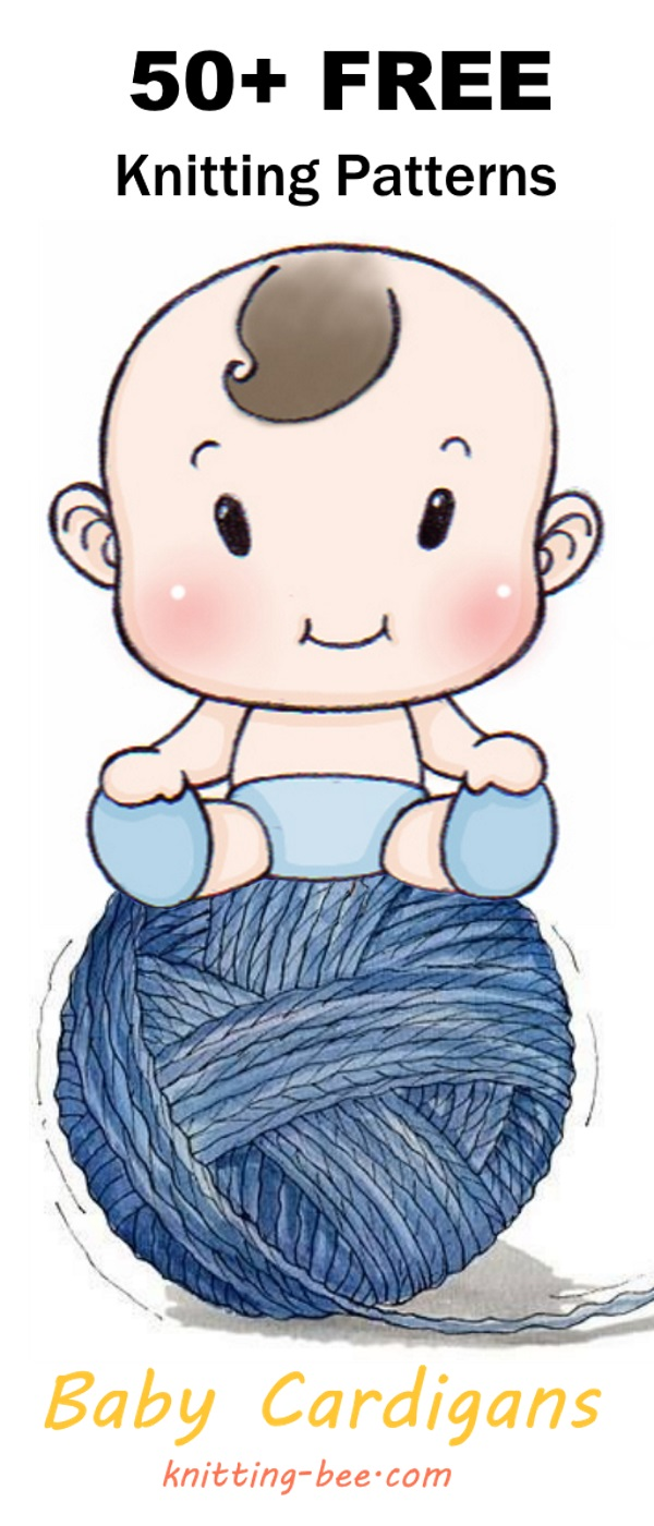 Free knitting patterns for baby cardigans