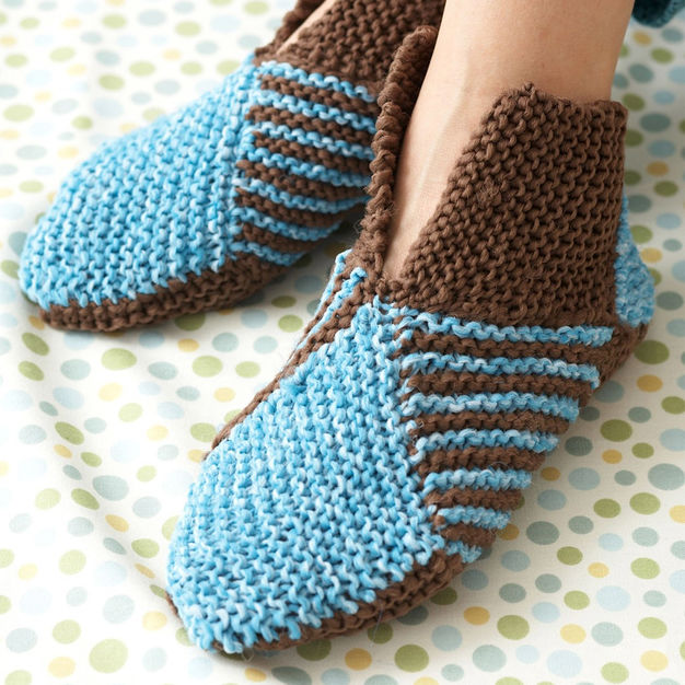 Free kntting pattern for origami slippers