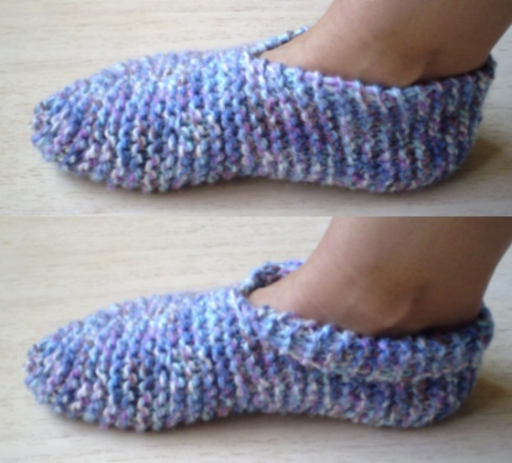 Old fashioned knitted slippers patterns free