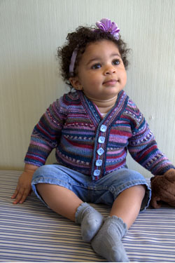 Seamless Baby Cardigan Free Knitting Pattern