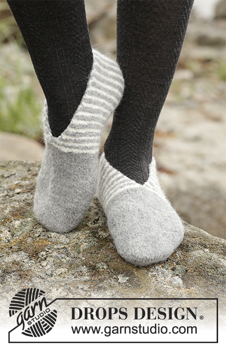 Free knitting pattern for Toes and Stripes slippers