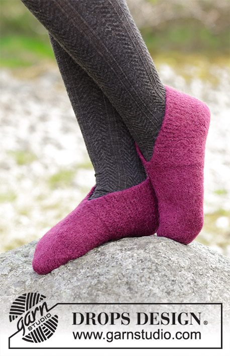 Winter Comfy free knitting pattern for felted slippers