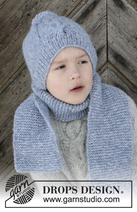 Free knitting pattern for a kids hat and scarf set
