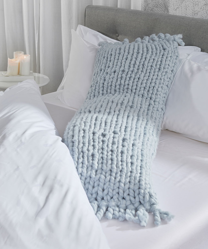 Free Knitting Pattern for a Good Night's Sleep Body Pillow