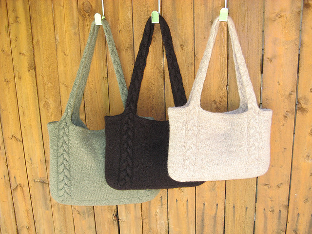 25+ Free Knit Tote Bag Patterns You'll Love Knitting