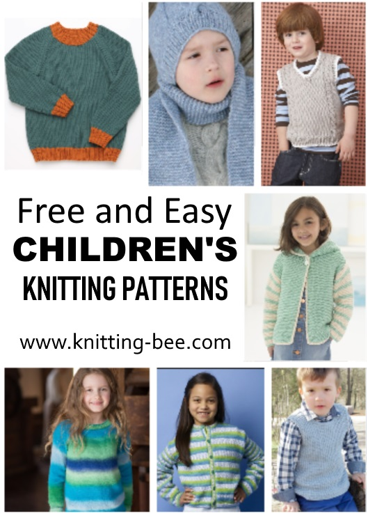 Easy Children\'s Knitting Patterns Free ⋆ Knitting Bee