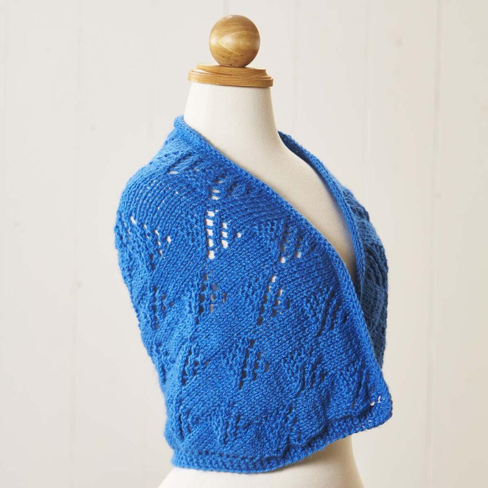 Free Baby Knitting Pattern for a Sapphire Lace Shawl ⋆ Knitting Bee