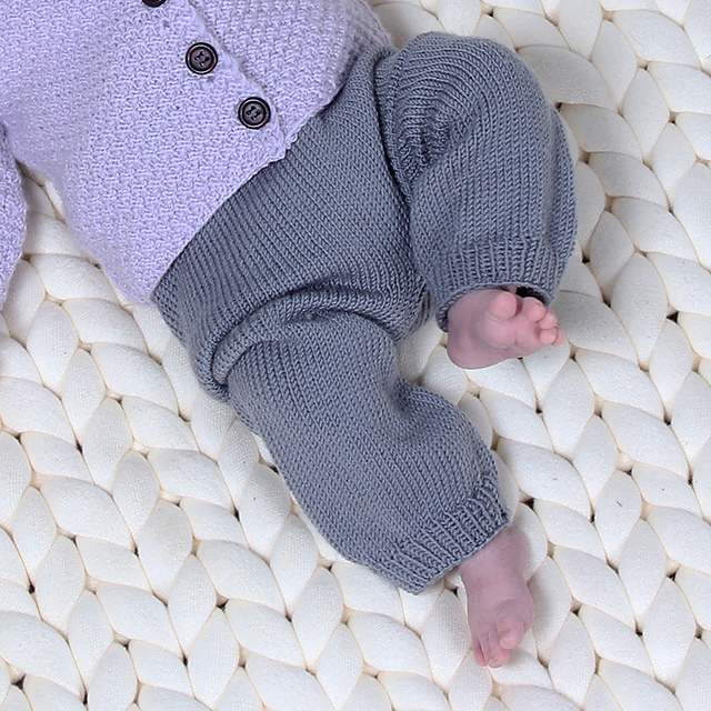 Free Knitting Pattern for Baby Trousers