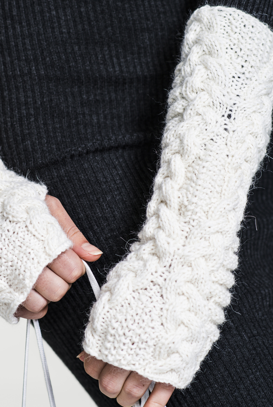 Free Knitting Pattern for Cable Wrist Warmers