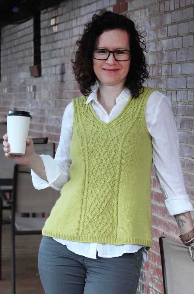 Free Knitting Pattern for Carnivore Twist Stitch Top