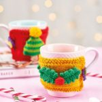 Free Knitting Pattern for Christmas Mug Cosies