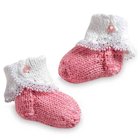Free Knitting Pattern for Fancy Baby Socks