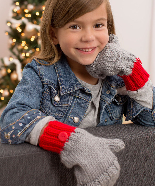 Free Knitting Pattern for Flip-Top Kids' Mittens
