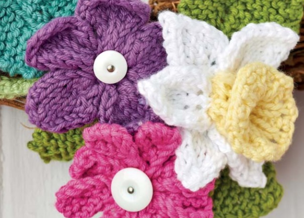 Free Knitting Pattern for Flowers