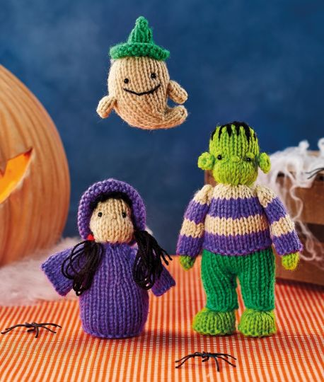 Free Knitting Pattern for Halloween Characters