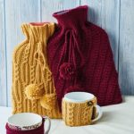 Free Knitting Pattern for Hot Water Bottle Covers & Mug Cosies