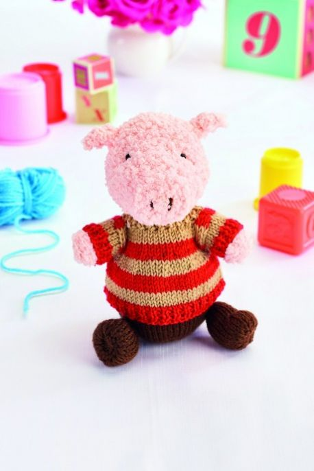 Free Knitting Pattern for Jimmy the Pig
