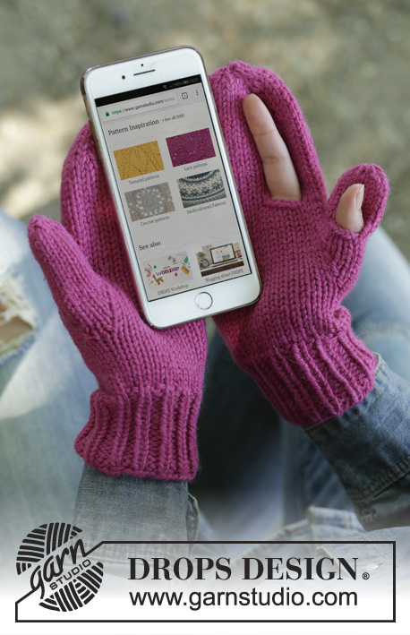 Free Knitting Pattern for Keep in Touch Mittens