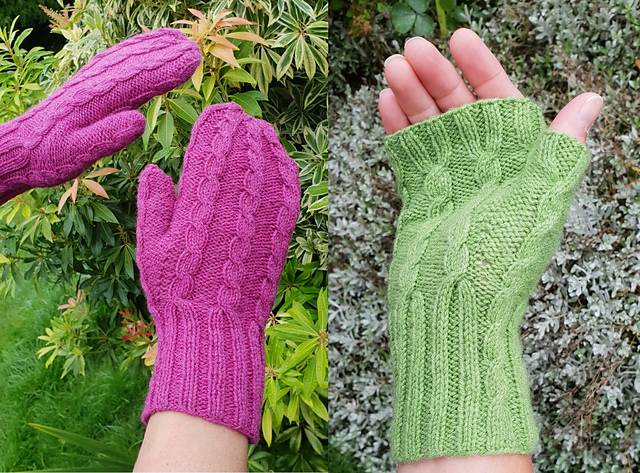 Free Knitting Pattern for Kinross Mittens