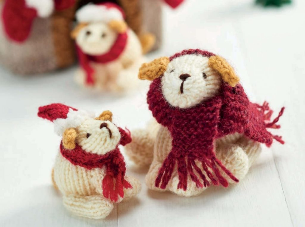 Free Knitting Pattern For Christmas Pups Knitting Bee