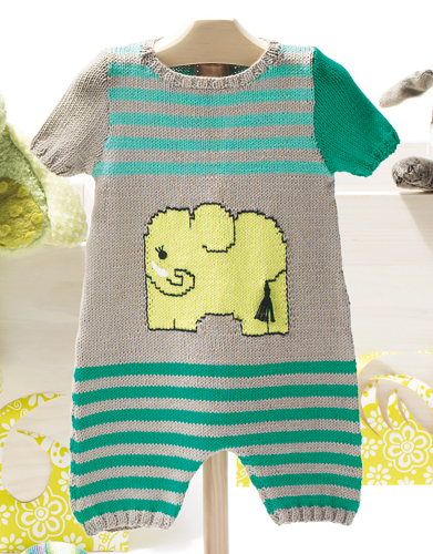 Free Knitting Pattern for Onesie Baby