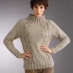 Free Knitting Pattern for Raglan Eyelet Cable Sweater
