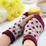 Free Knitting Pattern for Simple Fair Isle Wristwarmers