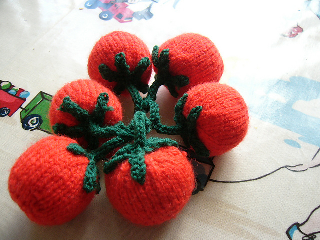 Free Knitting Pattern for Vine Tomatoes