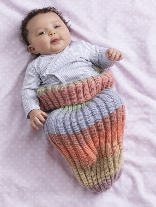 Free Knitting Pattern for a Baby Cozie